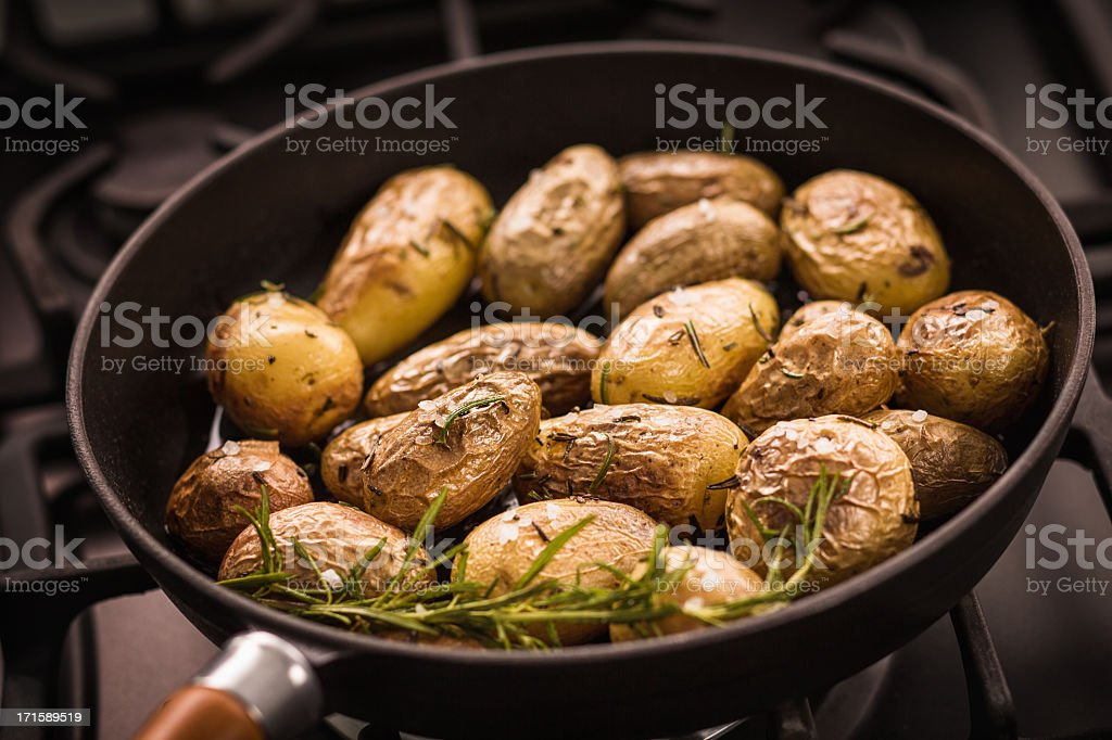 Roast Potatoes royalty-free stock photo