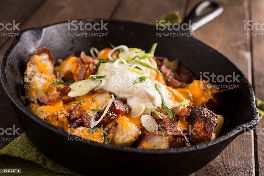 Roast Potatoes stock photo