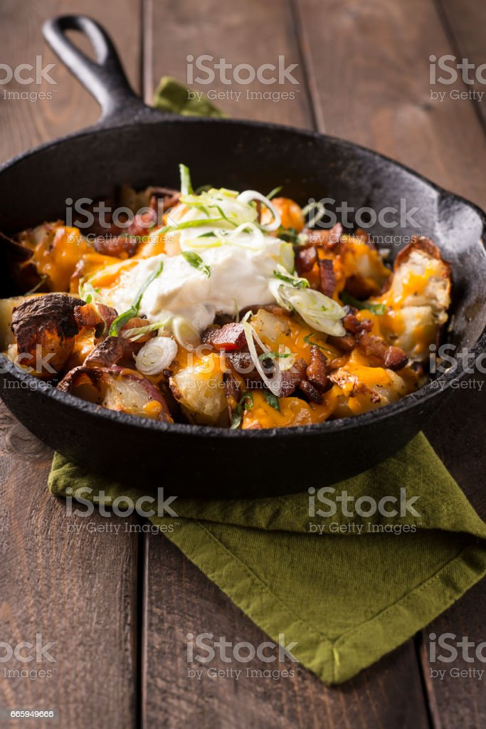 Roast Potatoes stock photo