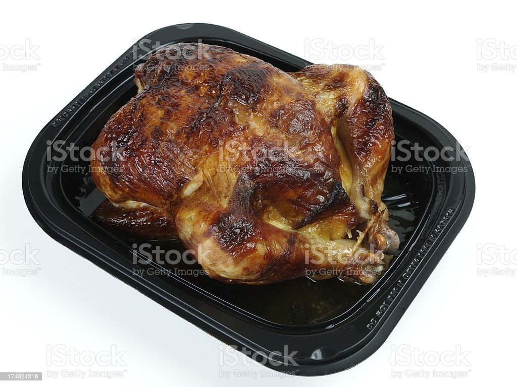 Roast Take Out Chicken royalty-free stock photo