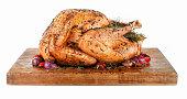 Roast Turkey on a Cutting Board