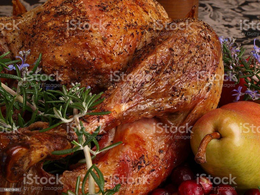 Roast Turkey with Fruit royalty-free stock photo