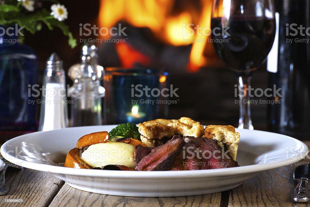 Roast Venison Dish stock photo