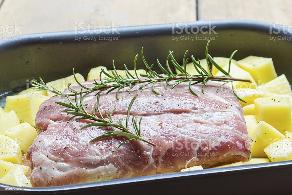 Roast with potatoes royalty-free stock photo