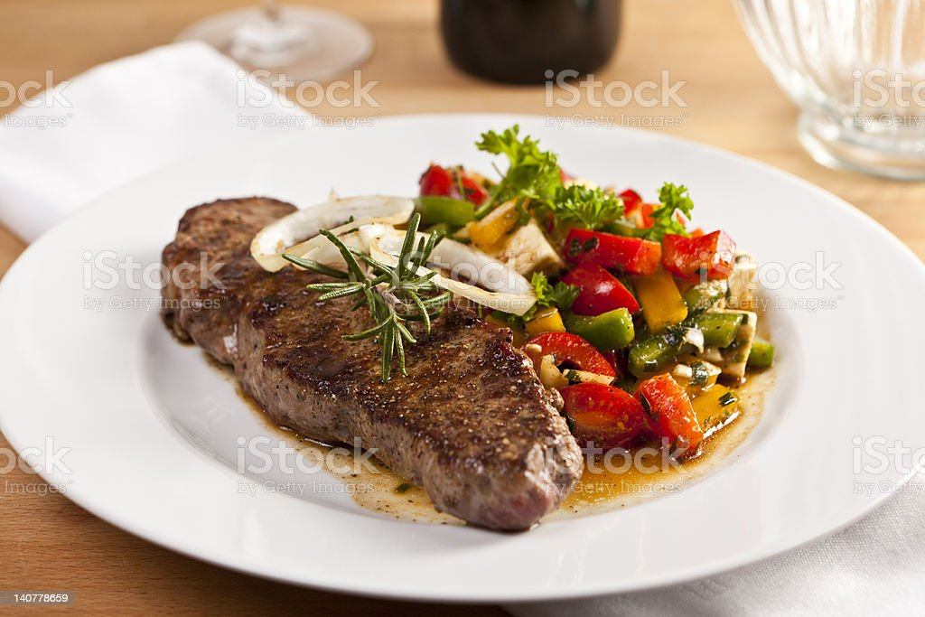 Roastbeef with Salad royalty-free stock photo