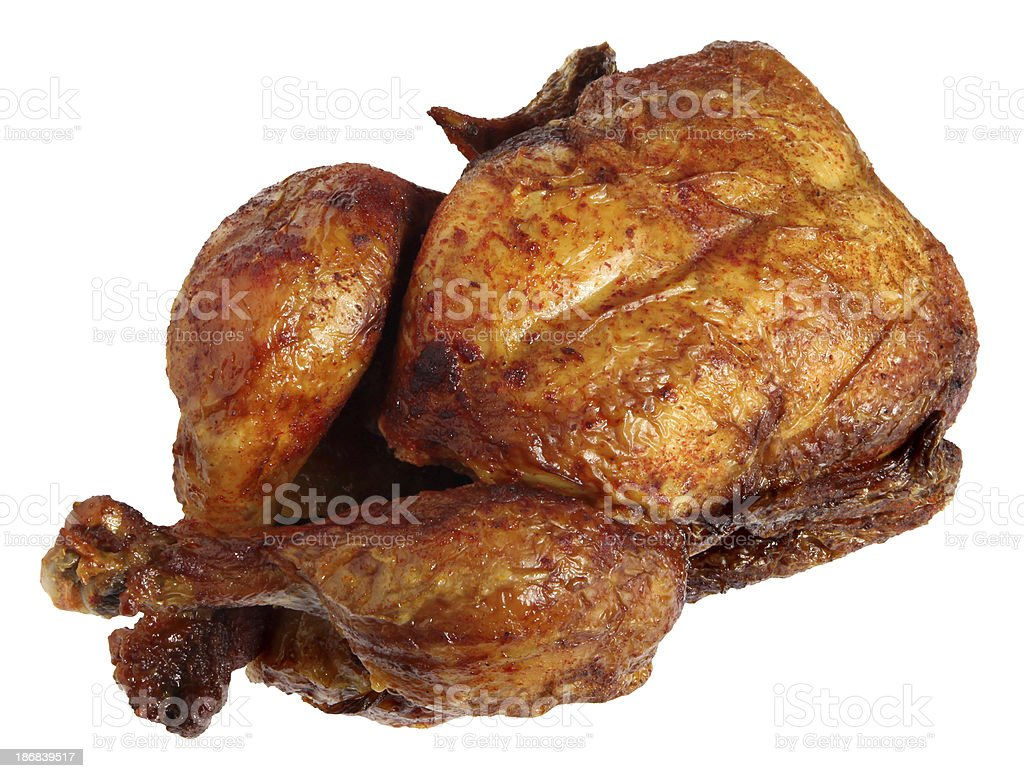 Roasted barbecue chicken royalty-free stock photo