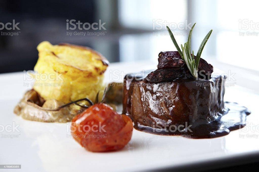 Roasted beef tenderloin stock photo