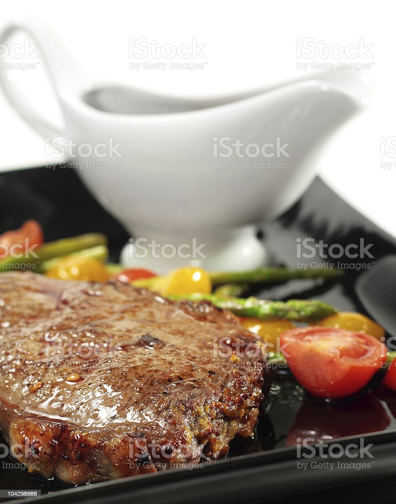 Roasted Beef with Braised Vegetables royalty-free stock photo