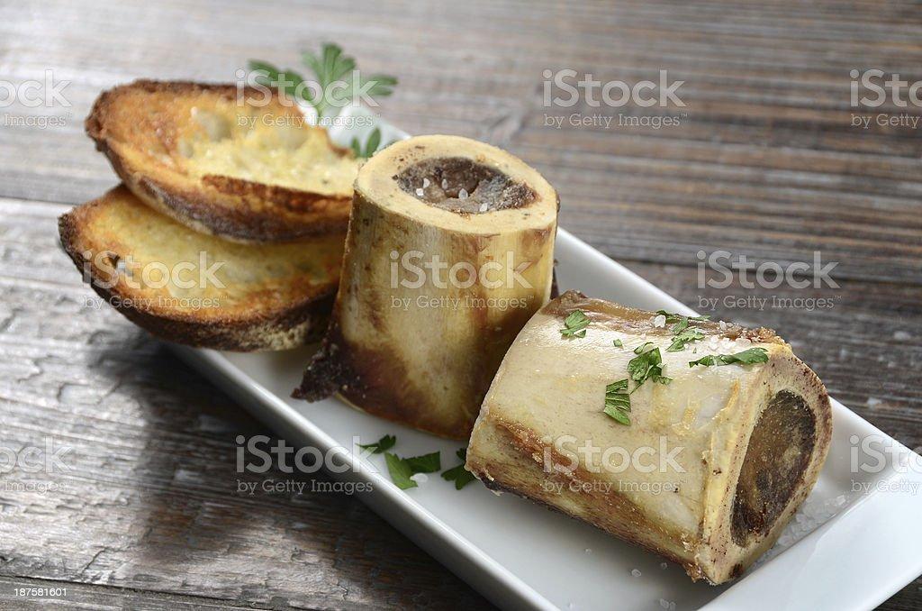 Roasted Bone Marrow stock photo