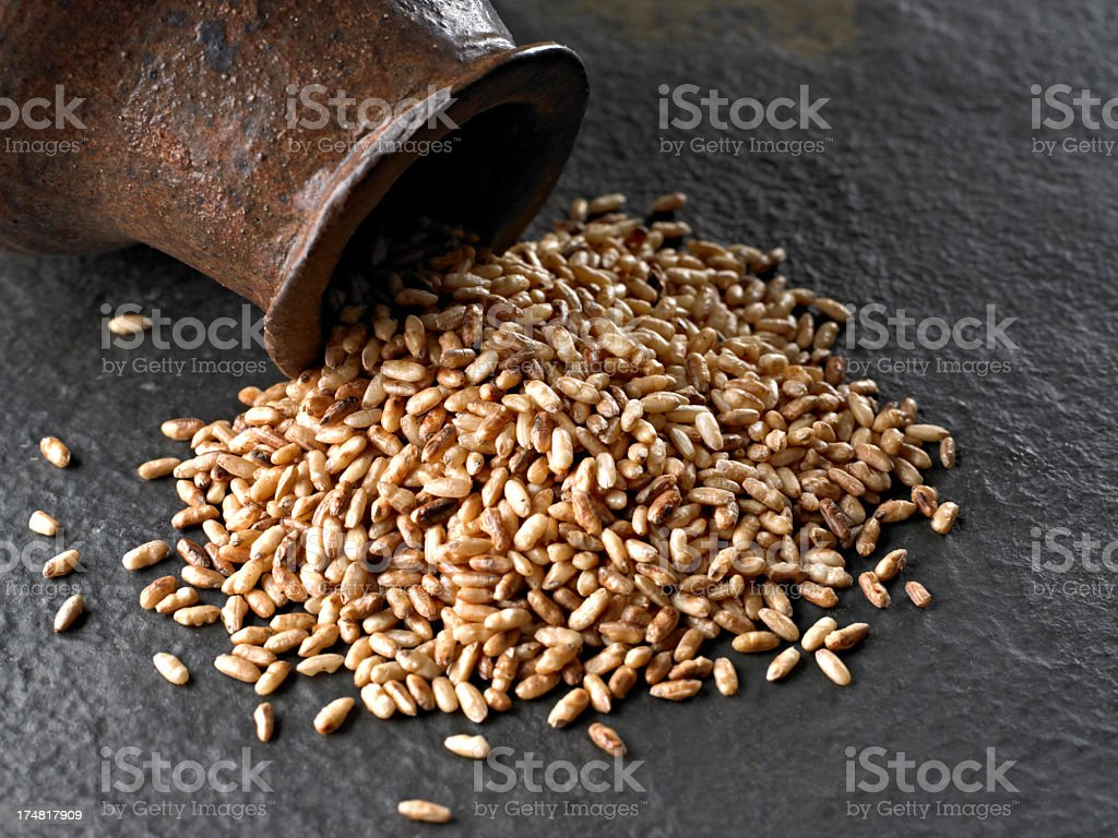 Roasted Brown Rice royalty-free stock photo