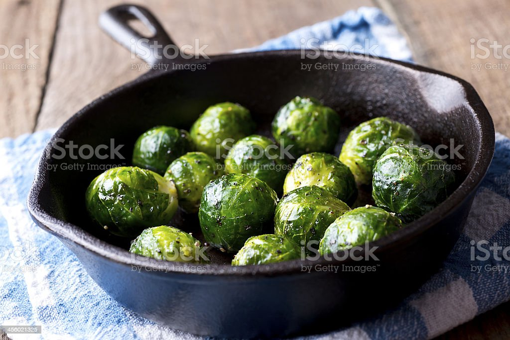 Roasted Brussels Sprout stock photo