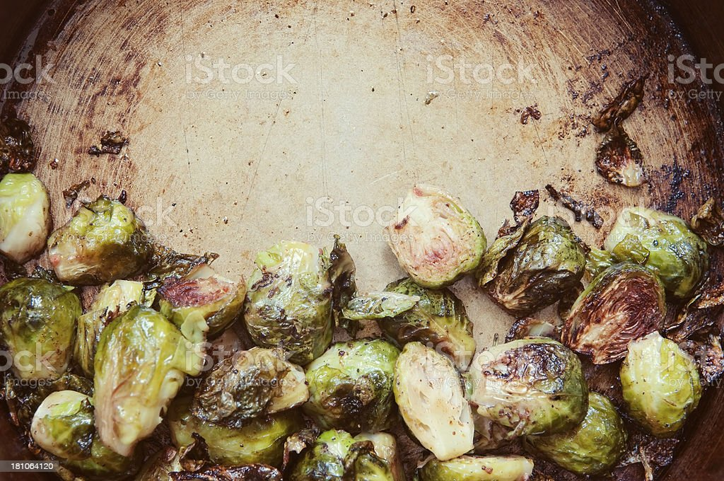 Roasted brussels sprouts royalty-free stock photo