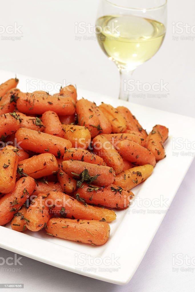 Roasted Carrots royalty-free stock photo
