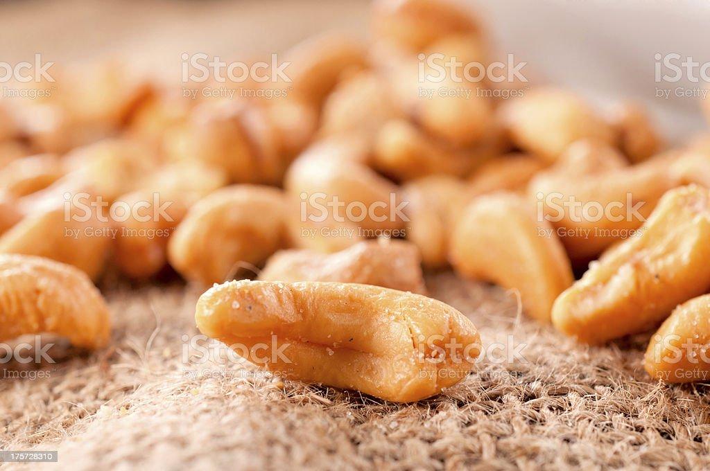Roasted cashew nut royalty-free stock photo