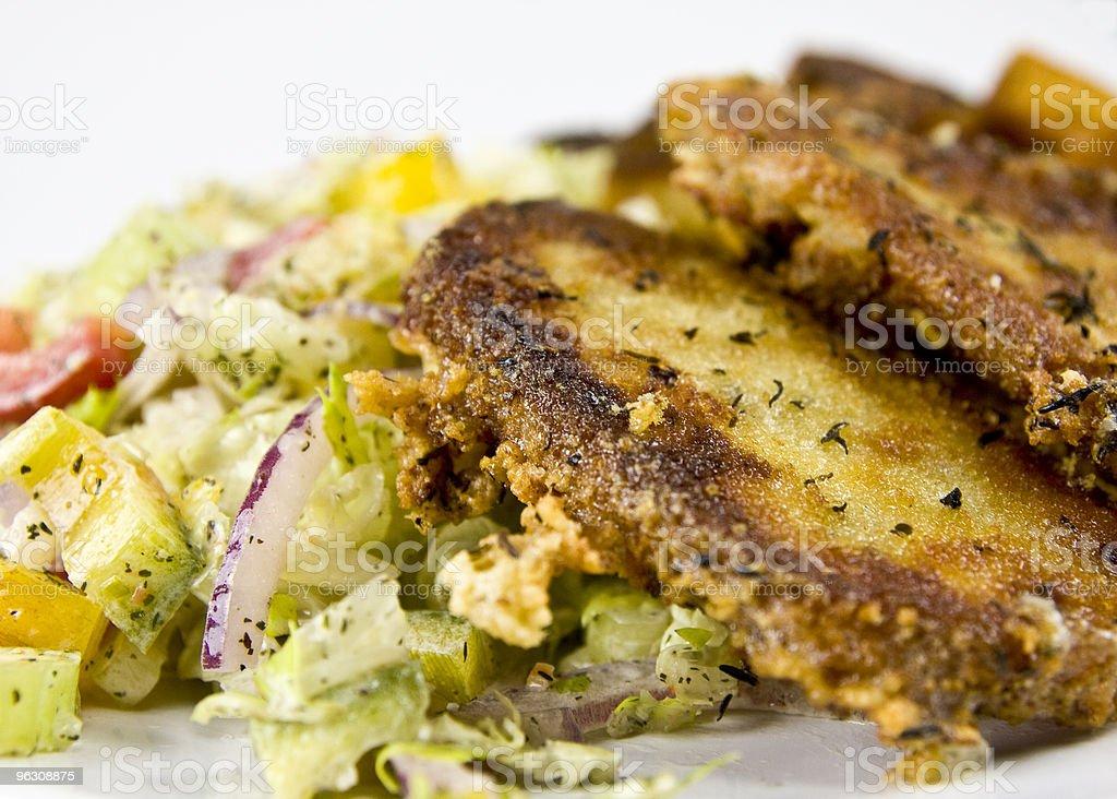 Gegrillter Käse mit Salat Lizenzfreies stock-foto