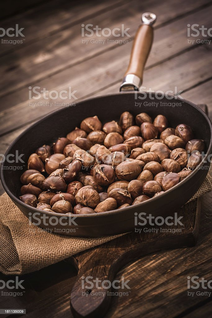 Roasted Chestnuts for Autumn Days royalty-free stock photo