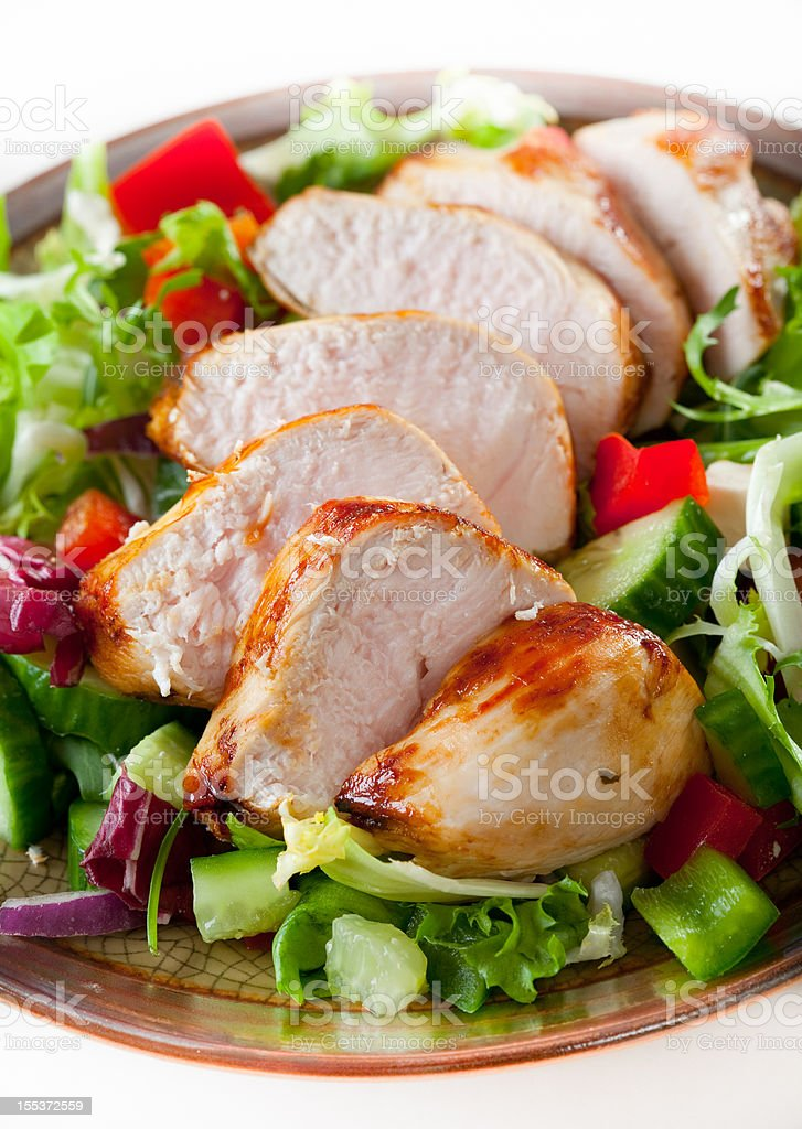 Roasted chicken breast royalty-free stock photo