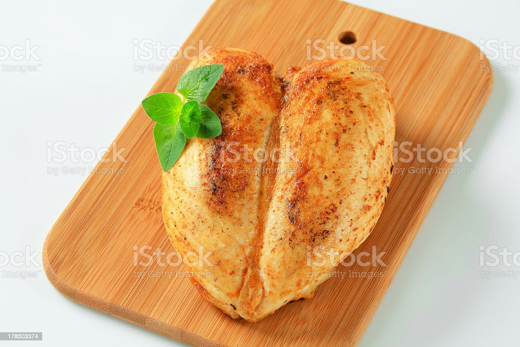 Roasted chicken breasts royalty-free stock photo