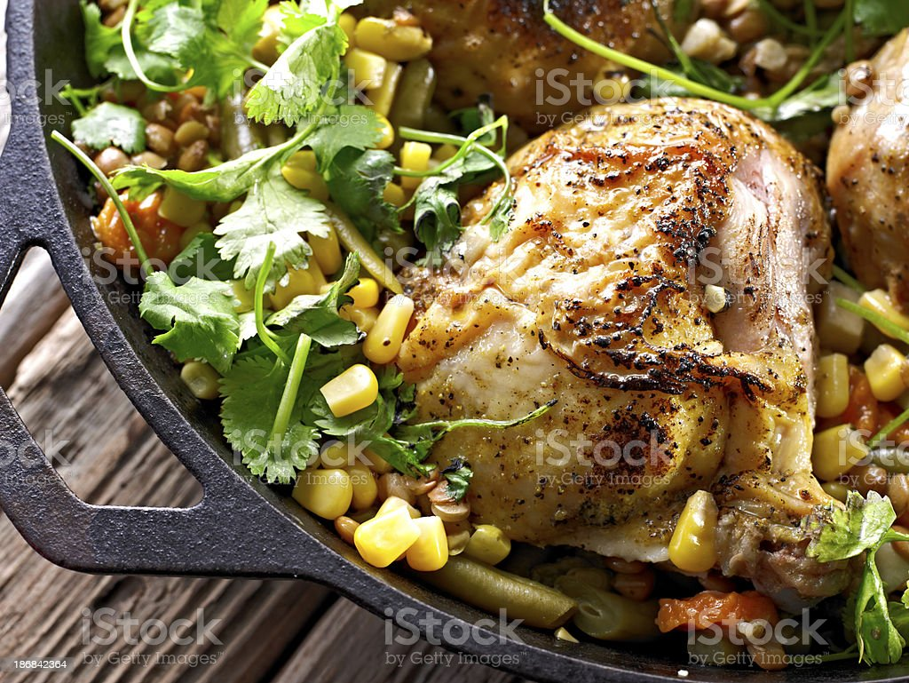 Roasted Chicken royalty-free stock photo