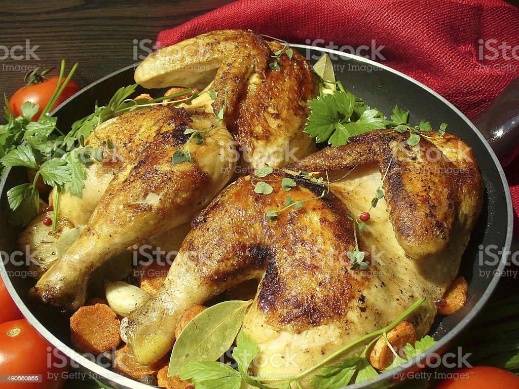 roasted chicken stock photo