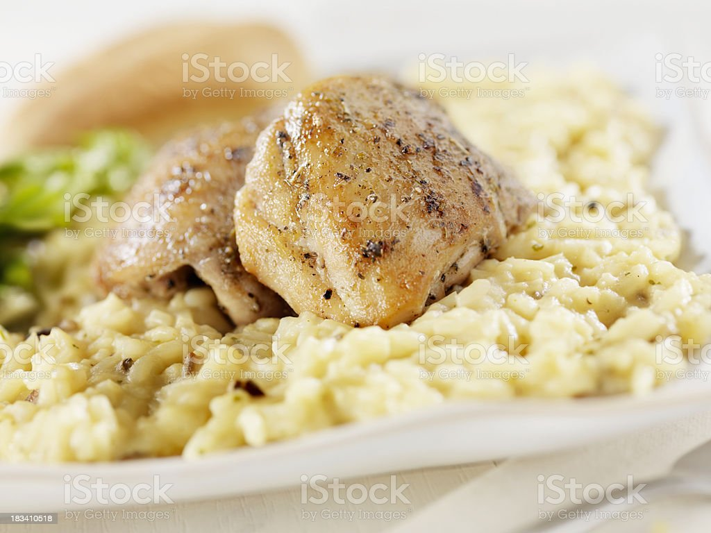 Roasted Chicken Thighs stock photo