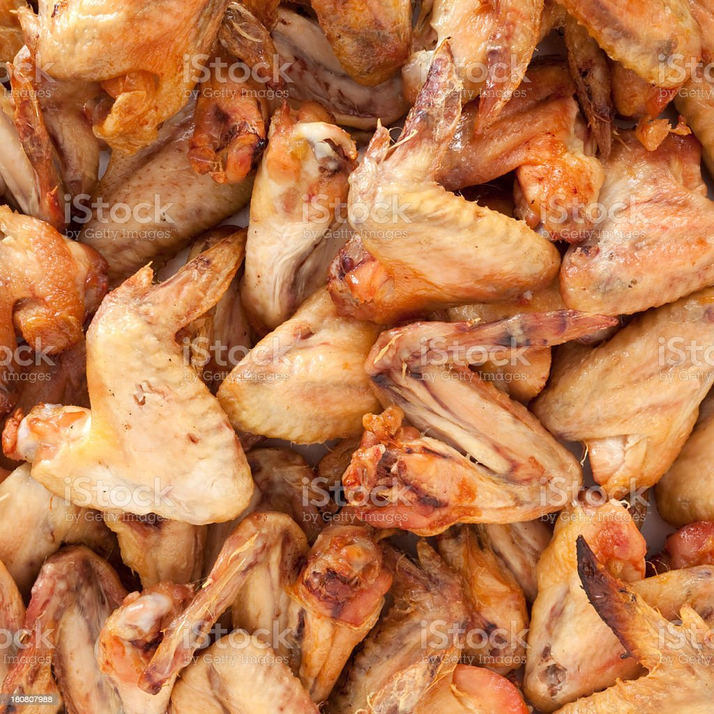 Roasted chicken wings royalty-free stock photo