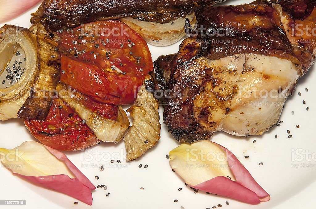 Roasted Chicken with chia royalty-free stock photo