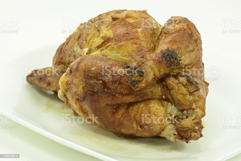 Roasted chicken with sticky rice royalty-free stock photo