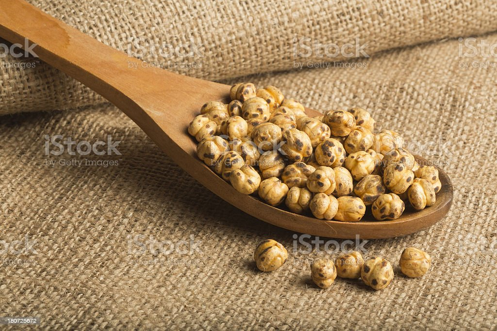 Roasted Chickpeas royalty-free stock photo