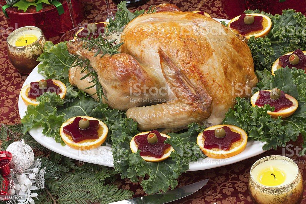 Roasted Christmas Turkey stock photo