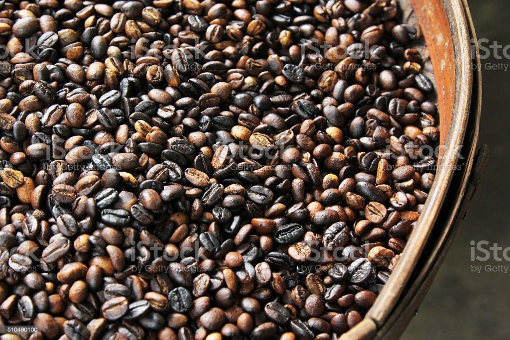 roasted civet coffee beans stock photo