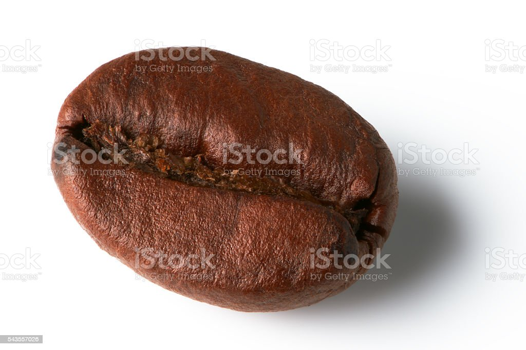 Roasted coffee bean, focus stacking. stock photo