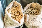 Roasted Coffee Bean, Sack, Bag, Coffee Crop, Burlap