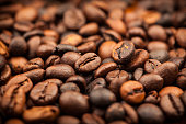 Roasted coffee beans as background