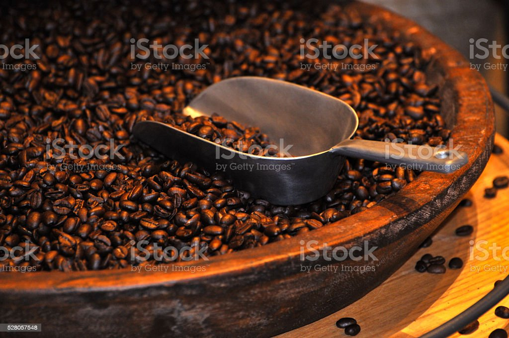Roasted coffee beans as background stock photo