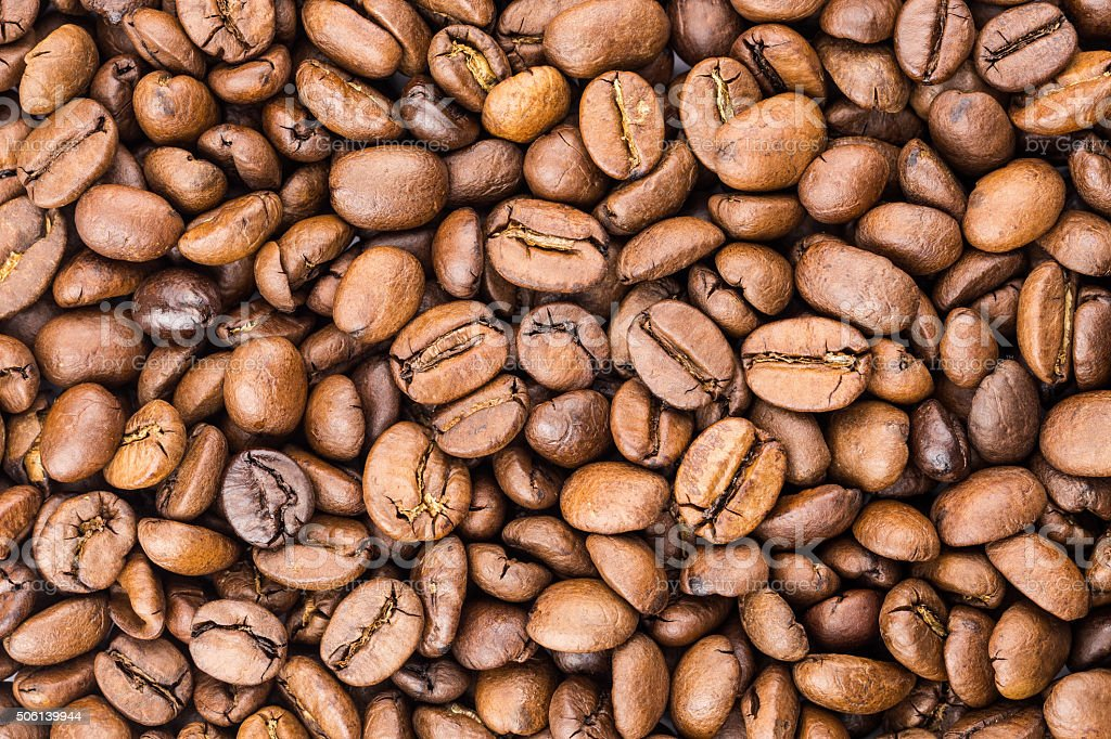 Roasted coffee beans royalty-free stock photo