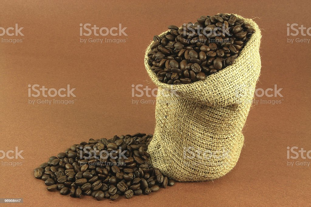 Roasted coffee beans. royalty-free stock photo