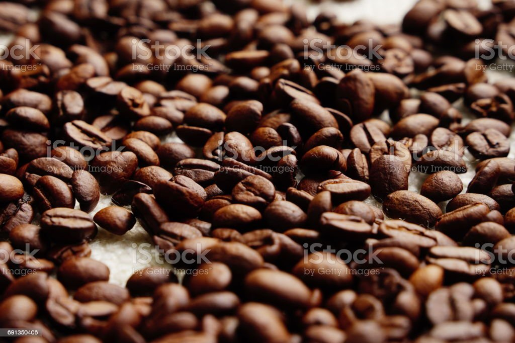 roasted coffee beans texture, can be used as a background stock photo