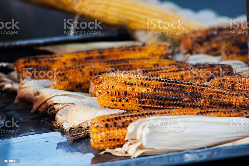Roasted Corn in Istanbul. Turkey stock photo