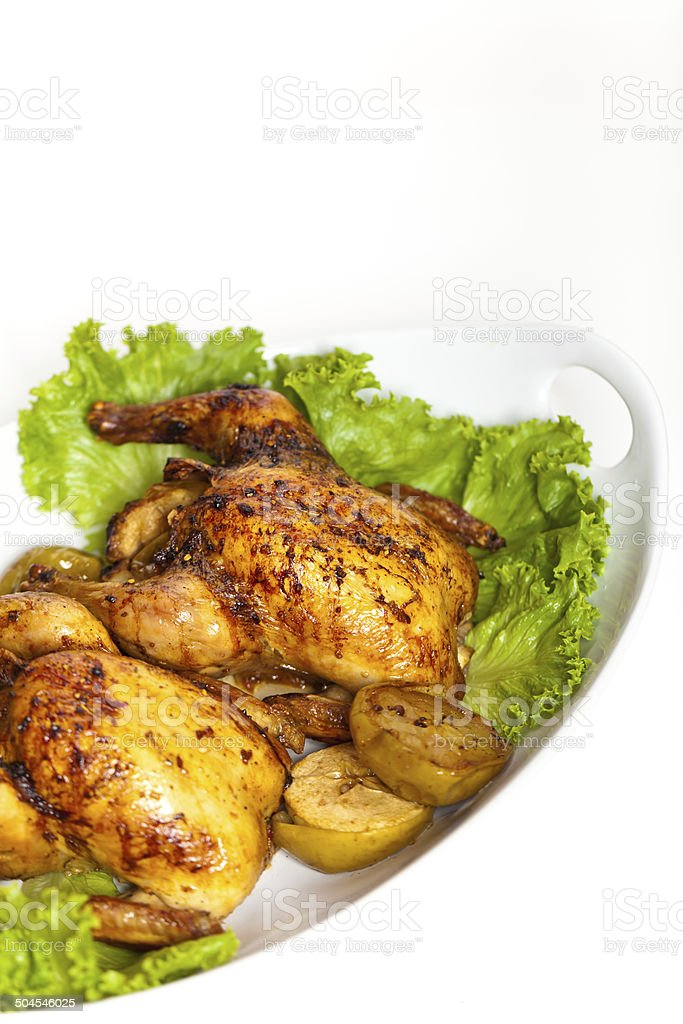 Roasted Cornish Hen royalty-free stock photo
