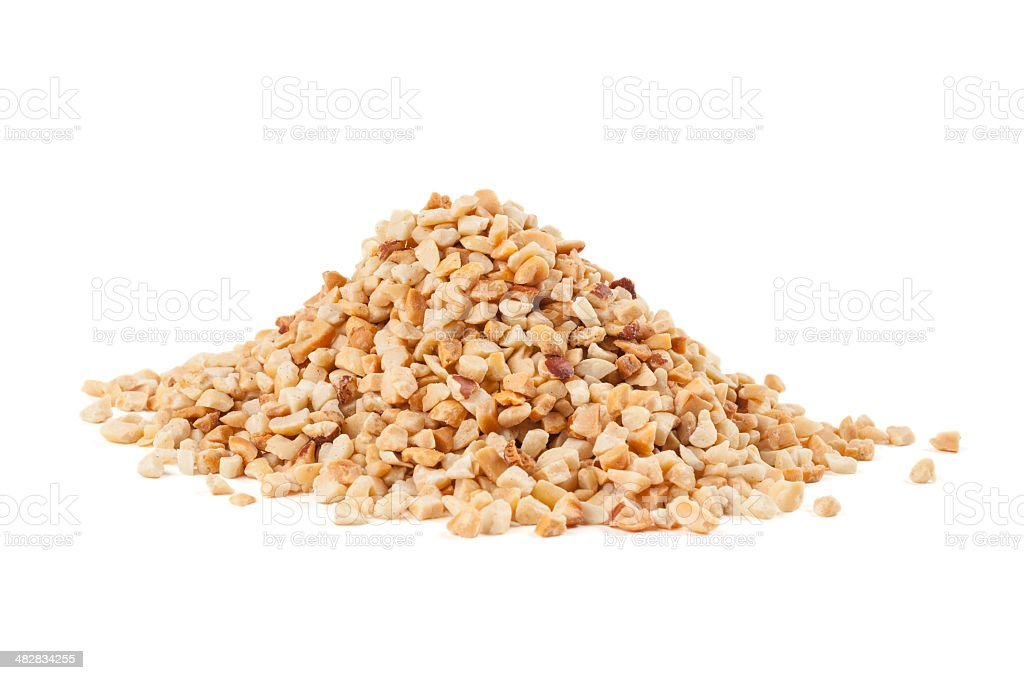 Roasted crushed peanuts stock photo