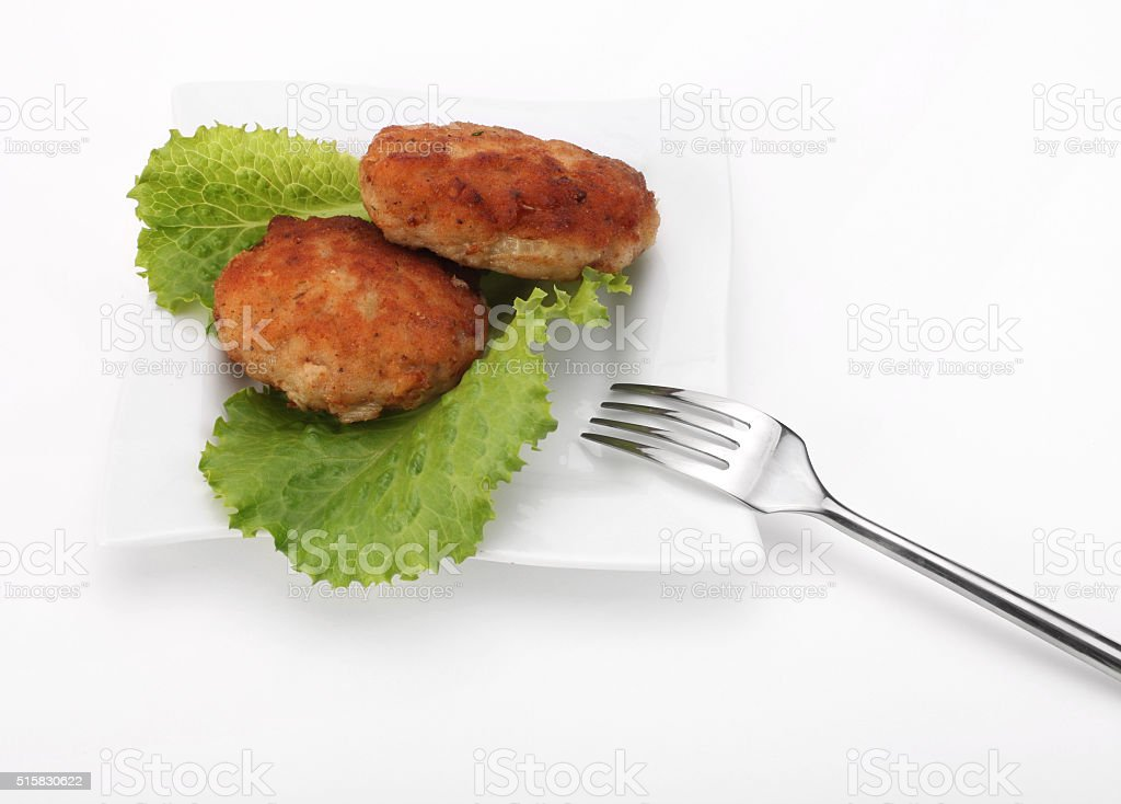 roasted cutlets of pork stock photo