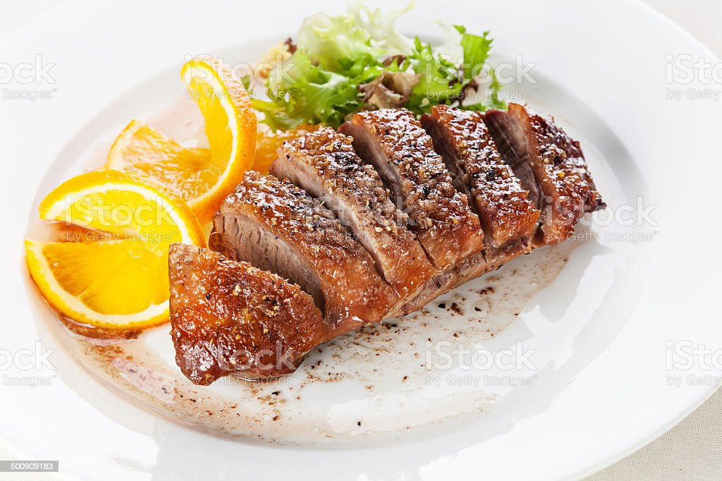 Roasted Duck Breast stock photo