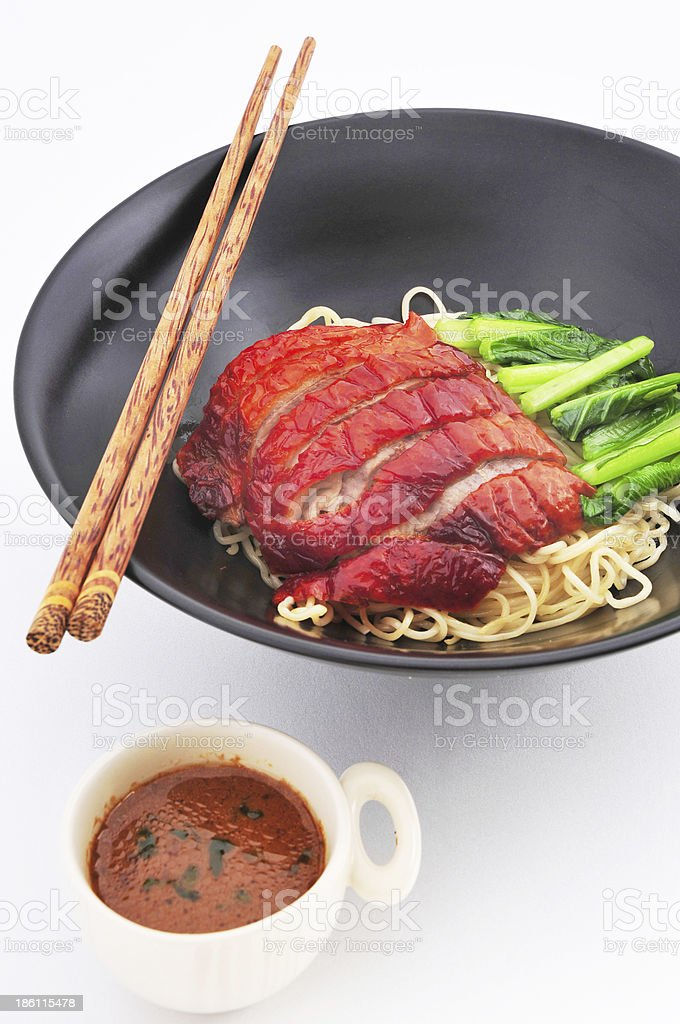 Roasted Duck nooddle with Sauce royalty-free stock photo