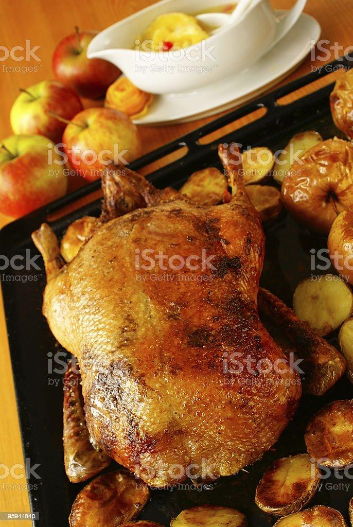 Roasted duck stock photo