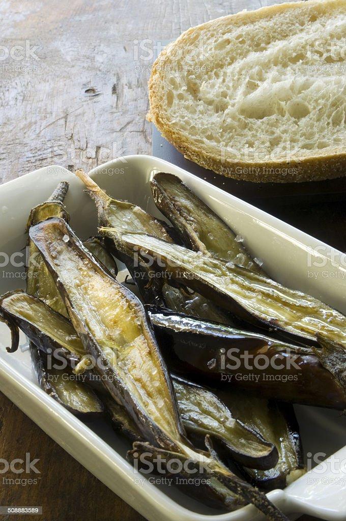 Roasted Eggplant stock photo