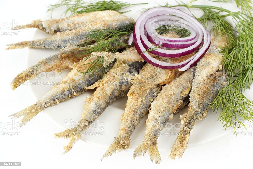 Roasted fish royalty-free stock photo