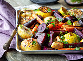 Roasted fruits and vegetables