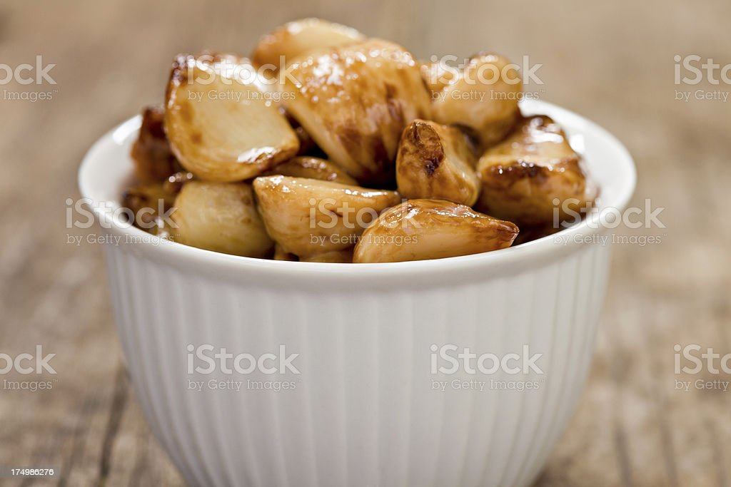Roasted Garlic Cloves stock photo