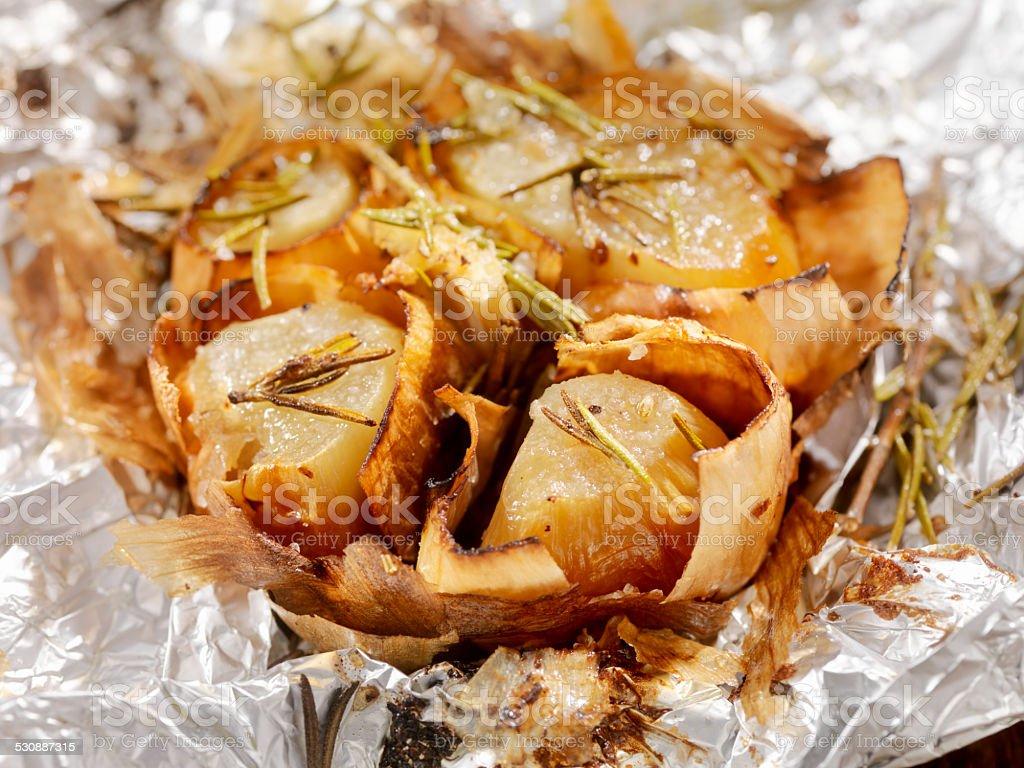 Roasted Garlic stock photo